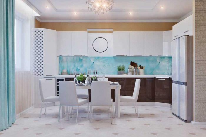 вариант красивого интерьера квартиры 65 кв.м