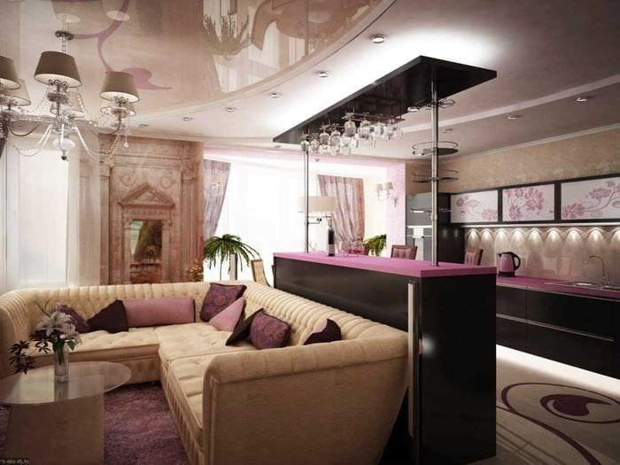 пример светлого интерьера современной квартиры 65 кв.м