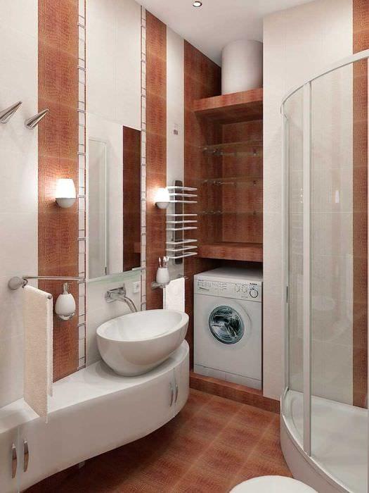 идея необычного стиля ванной 2.5 кв.м