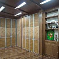 вариант современного дизайна гардеробной комнаты фото
