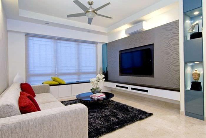 пример яркого стиля гостиной комнаты 16 кв.м