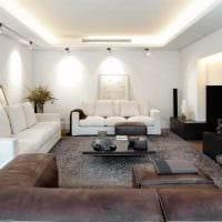 пример необычного интерьера гостиной 25 кв.м картинка
