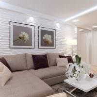 вариант необычного интерьера гостиной комнаты 25 кв.м фото