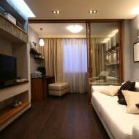 вариант яркого стиля гостиной комнаты 16 кв.м картинка