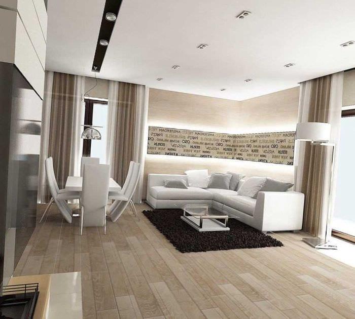 вариант яркого стиля гостиной комнаты в современном стиле