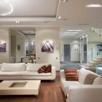 идея яркого декора гостиной в современном стиле фото