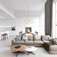 идея необычного дизайна гостиной в современном стиле фото