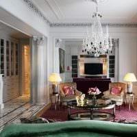 идея светлого дизайна квартиры в стиле современная классика фото