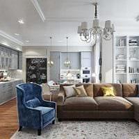 вариант красивого интерьера комнаты в стиле современная классика фото