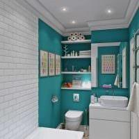 идея красивого стиля ванной комнаты 4 кв.м фото