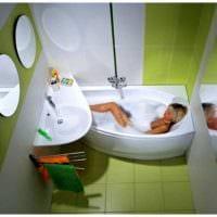 вариант необычного дизайна ванной 4 кв.м картинка