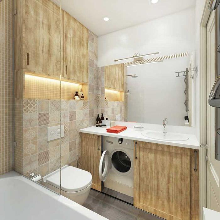 идея современного интерьера ванной 2.5 кв.м