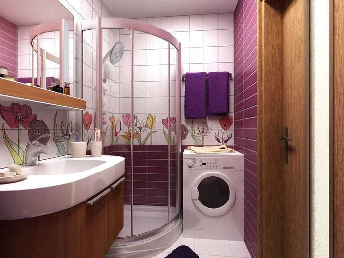 вариант необычного стиля ванной 2020