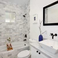 идея яркого дизайна ванной 4 кв.м картинка