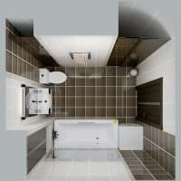 вариант светлого дизайна ванной комнаты 5 кв.м картинка