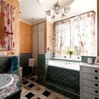 вариант необычного интерьера ванной с окном картинка