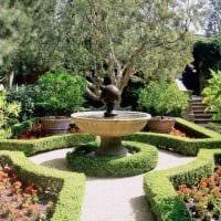 идея красивого ландшафтного дизайна сада картинка