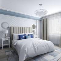 идея необычного стиля спальни в белом цвете картинка