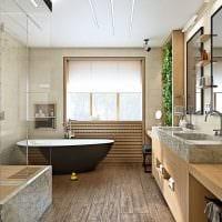 идея красивого дизайна большой ванной комнаты фото