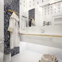 идея красивого стиля большой ванной комнаты фото