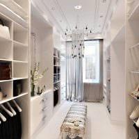 идея красивого интерьера гардеробной комнаты фото