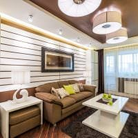 пример необычного интерьера гостиной комнаты 16 кв.м фото