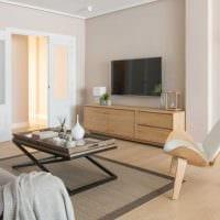 идея красивого дизайна гостиной комнаты в современном стиле фото