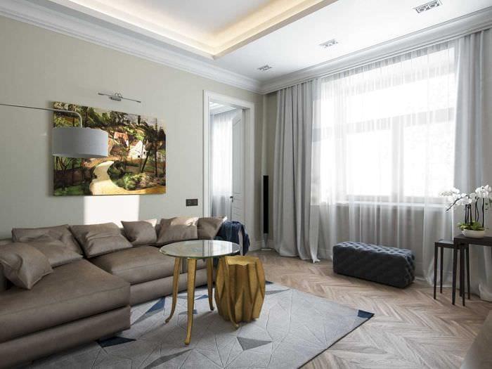 вариант необычного стиля квартиры в стиле современная классика
