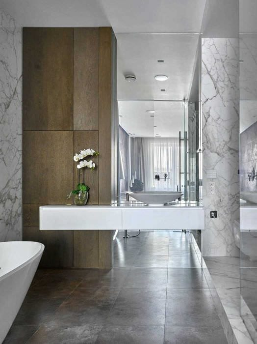 идея красивого интерьера ванной 2020
