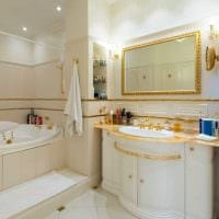 идея красивого стиля ванной комнаты в классическом стиле картинка