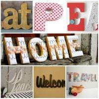 вариант применения декоративных букв в интерьере квартиры фото