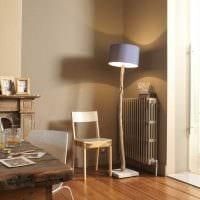 вариант сочетания светлого коричневого цвета в дизайне гостиной картинка