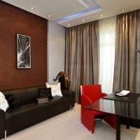 идея сочетания яркого коричневого цвета в интерьере спальни картинка