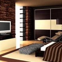 вариант сочетания светлого коричневого цвета в дизайне кухни фото