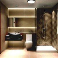вариант современного стиля большой ванной картинка