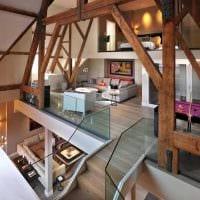 вариант современного интерьера дома со вторым светом фото