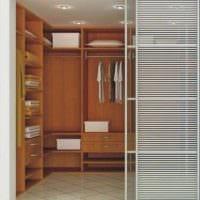 вариант необычного дизайна гардеробной комнаты фото