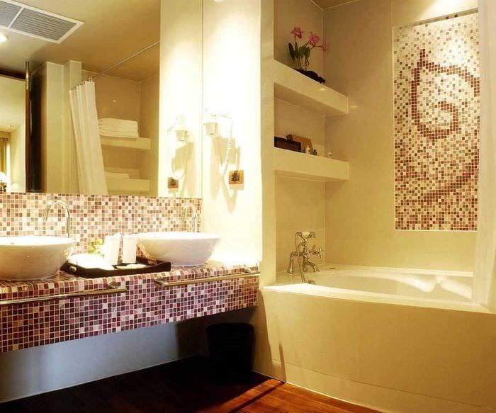 идея необычного интерьера ванной 2.5 кв.м