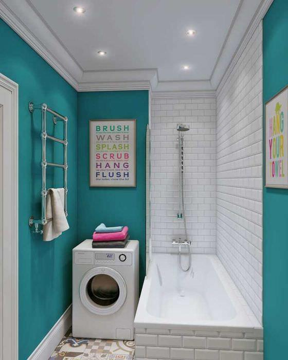 вариант необычного стиля ванной комнаты 2020