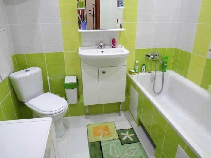 вариант красивого дизайна ванной комнаты 4 кв.м