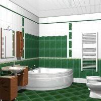 идея красивого стиля ванной комнаты с угловой ванной фото