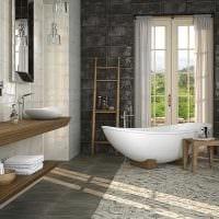 вариант красивого интерьера большой ванной фото