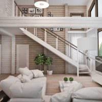 идея необычного интерьера квартиры со вторым светом картинка
