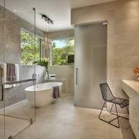 вариант современного дизайна ванной 2017 картинка