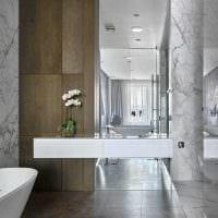 идея необычного стиля ванной комнаты 2017 фото