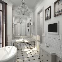 идея современного дизайна большой ванной фото
