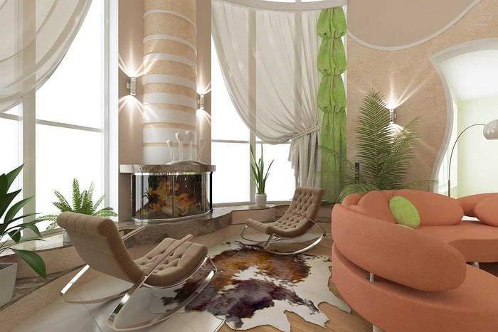 вариант красивого интерьера дома со вторым светом