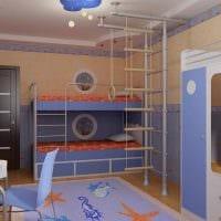 вариант необычного декора детской комнаты для двух мальчиков фото