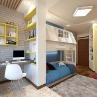 идея яркого интерьера детской комнаты для двух мальчиков фото