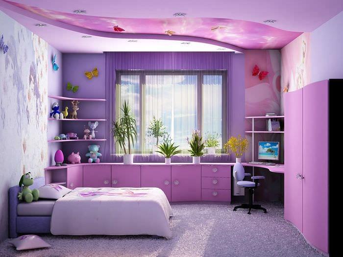 вариант светлого декора детской комнаты
